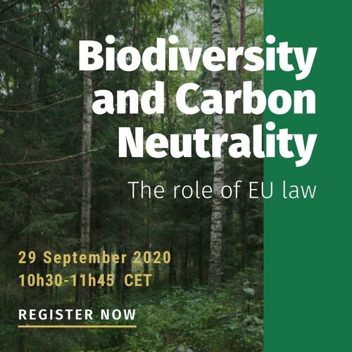 Biodiversity and Carbon Removals: The role of EU law