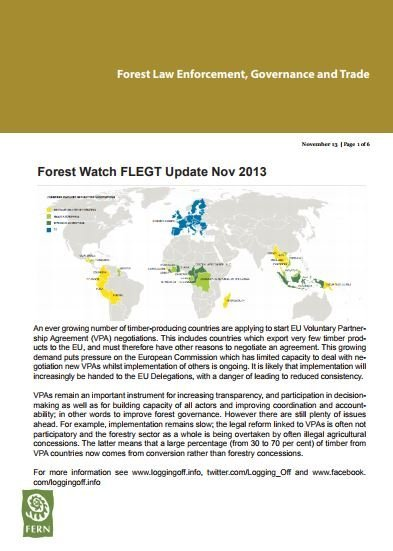 FLEGT VPA Update November 2013