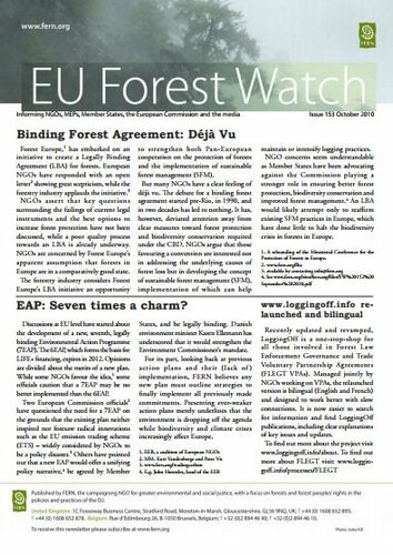 Forestwatch Issue 153 and FLEGT Update