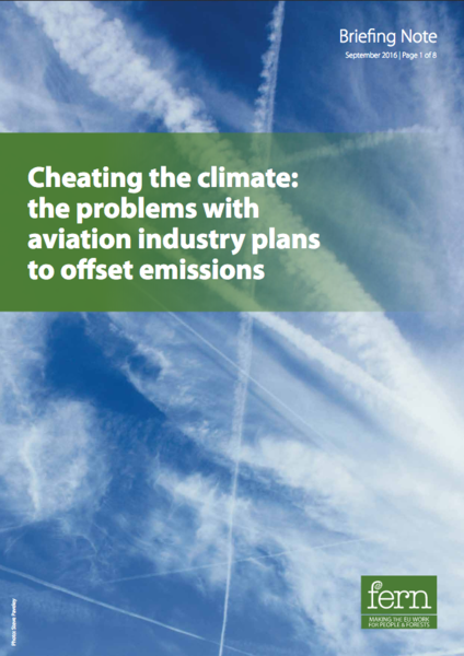 Cheating the climate: the problems with aviation industry plans to offset emissions