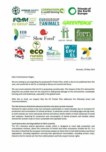 Civil society letter on the EU Protein Plan
