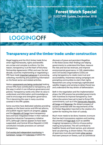 Transparency and the timber trade: under construction