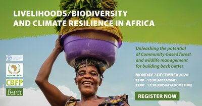 Webinar: Unleashing the potential of Community-based forest and wildlife management for building back better: livelihoods, biodiversity and climate resilience in Africa