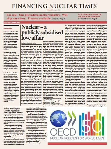 Financing nuclear times