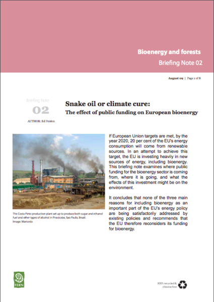 Snake oil or climate cure - The effect of public funding on European bioenergy