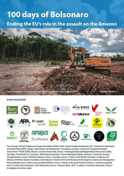 100 Days of Bolsonaro - Ending the EU's role in the assault on the Amazon