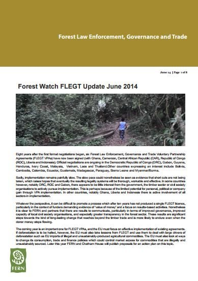 Forest Watch FLEGT VPA Update June 2014
