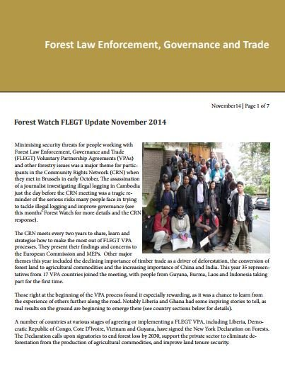 Forest Watch FLEGT VPA Update November 2014