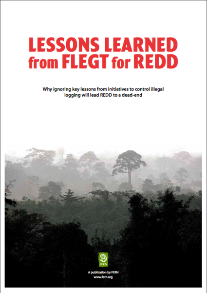 Lessons learnt from FLEGT for REDD - Summary