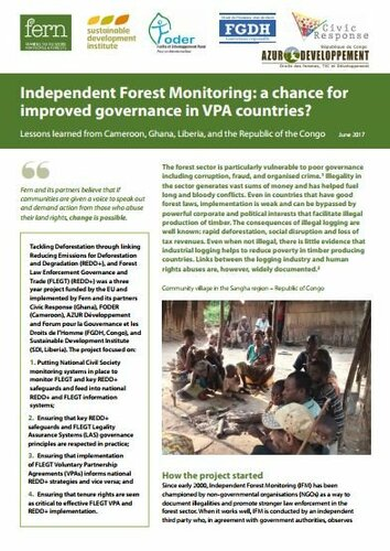 Independent Forest Monitoring: a chance for improved governance in VPA countries?