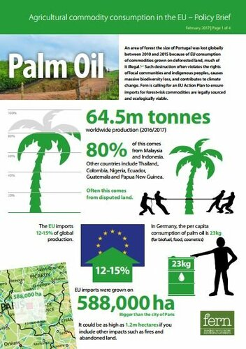 EU consumption of Palm Oil and deforestation
