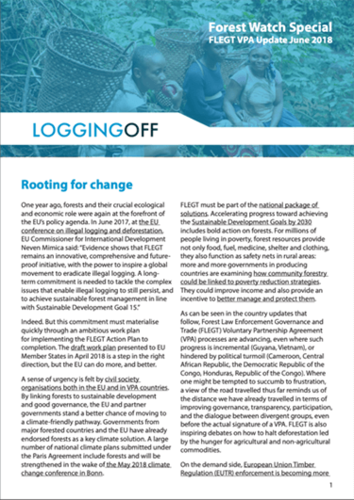 Rooting for change - VPA Update, June 2018