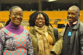 Palm oil plantations in Cameroon 'took away families' crop land and burial lands', hear participants at event in EU Parliament