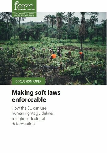 Making soft laws enforceable: How the EU can use human rights guidelines to fight agricultural deforestation