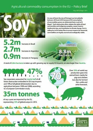 EU consumption of soy and deforestation