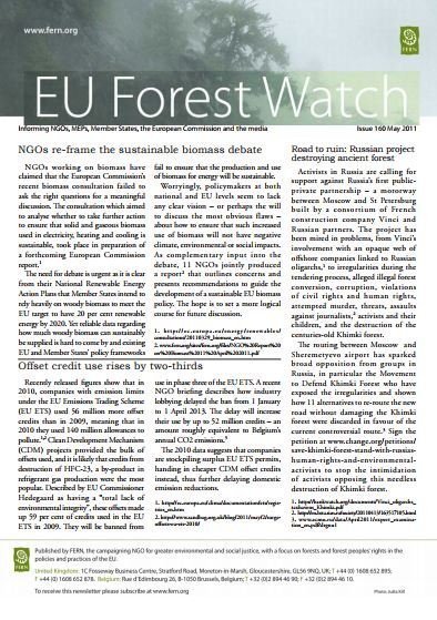 Forestwatch Issue 160 and FLEGT Update