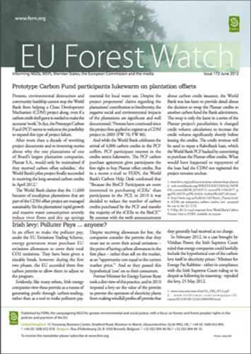 ForestWatch Issue 172 June 2012 and update from Bonn climate talks