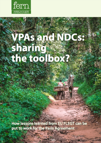 VPAs and NDCs: Sharing the Toolbox? – How lessons learned from EU FLEGT can be put to work for the Paris Agreement
