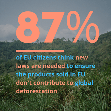 Poll shows broad citizen support for regulating products that drive deforestation
