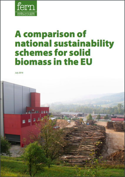 A comparison of national sustainability schemes for solid biomass in the EU