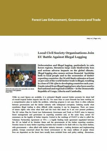 Local Civil Society Organisations join EU battle against illegal logging